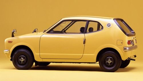 Yellow 2 Door Compact Labeled Z Great Rides Pinterest Honda