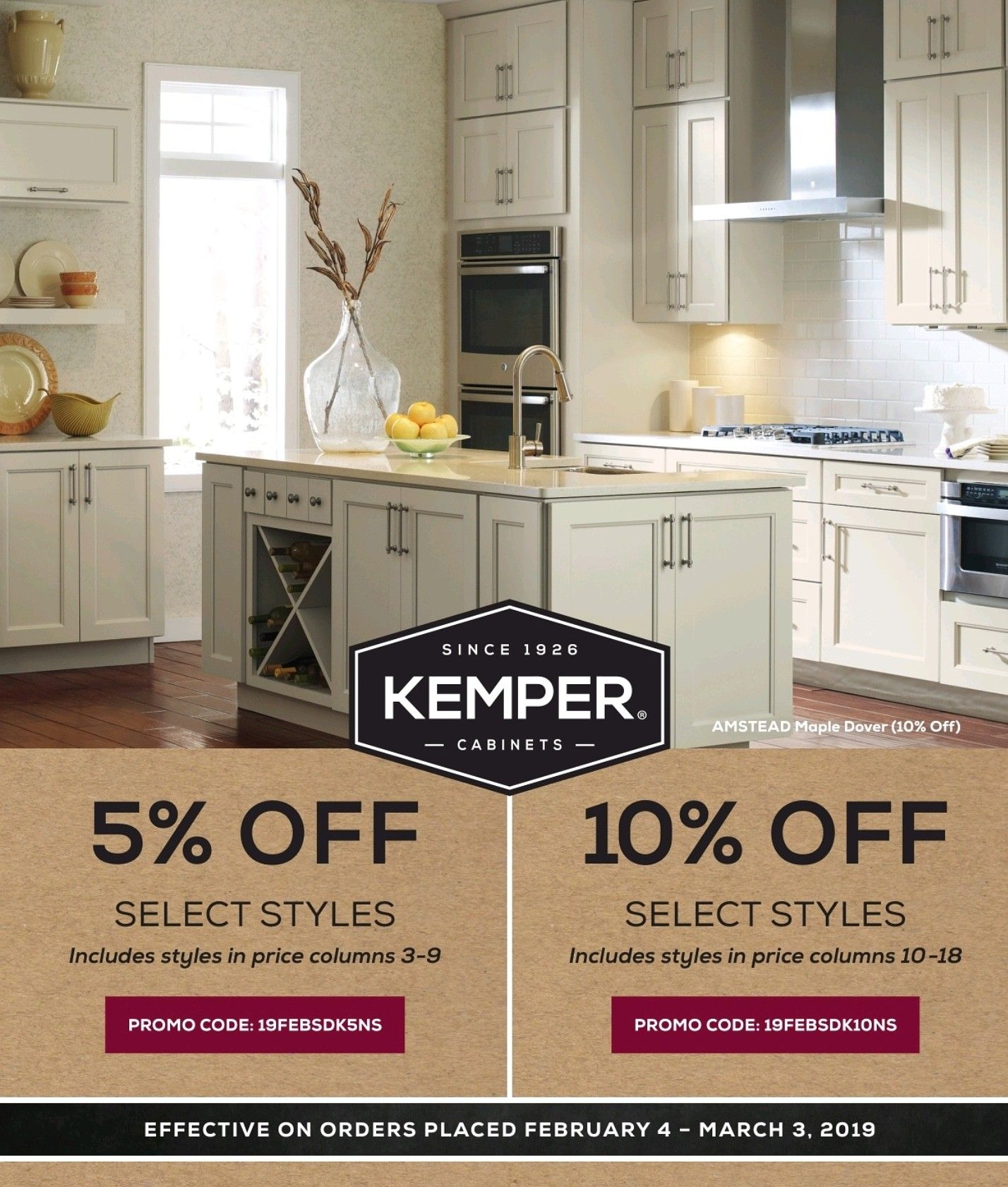 Kemper Cabinets Winter Promo Until March 3 2019 Save Up To 10 Off Select Styles Contact One Of Our Knoxvill Kitchen Sale Kitchen And Bath Showroom Kitchen