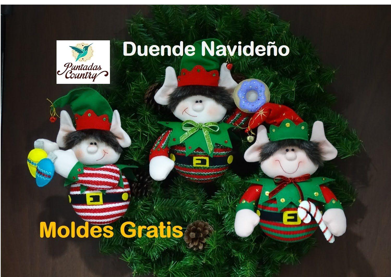 7a5cd39ff Duende Navideño con moldes gratuitos | NAVIDAD | Christmas clay ...