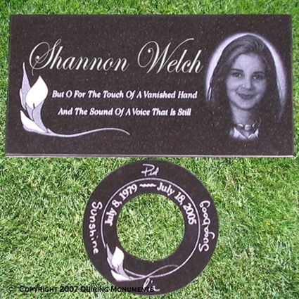 Single Flat Grave Markers | Personalized Single Grave Markers ...