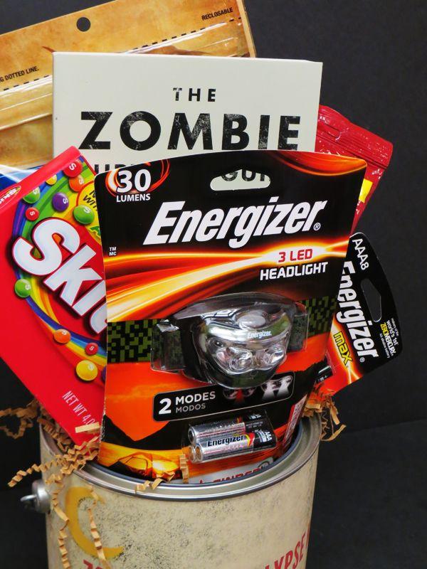Diy Gift Idea Zombie Apocalypse Kit Free Printable Comic Con Family Zombie Survival Kit Diy Zombie Apocalypse Kit Survival Kits Diy