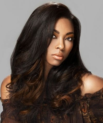 Beautiful straight hairstyle with light brown ombre colouring beautiful straight hairstyle with light brown ombre colouring hairstyle for black women urmus Image collections