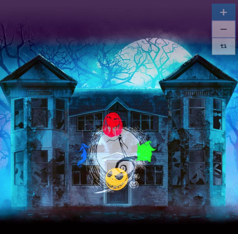 Create a spooky Halloween light show of floating, whirling