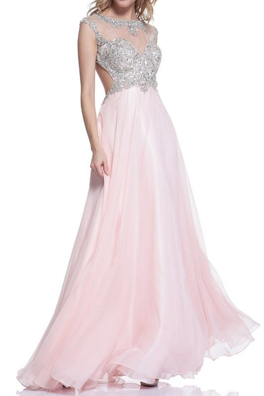 Blush Jeweled Mesh Top Ball Gown | Ball gowns, Jewel and Gowns