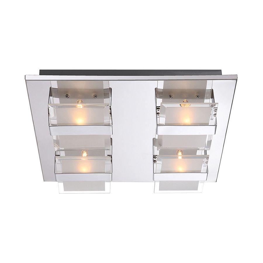 Deckenleuchte DL METALL CHROM, 4XG9   Metall   Silber   4 Flammig
