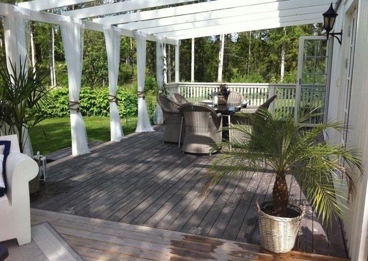 40 idées de pergola avec rideaux moderne dans le jardin Pergolas