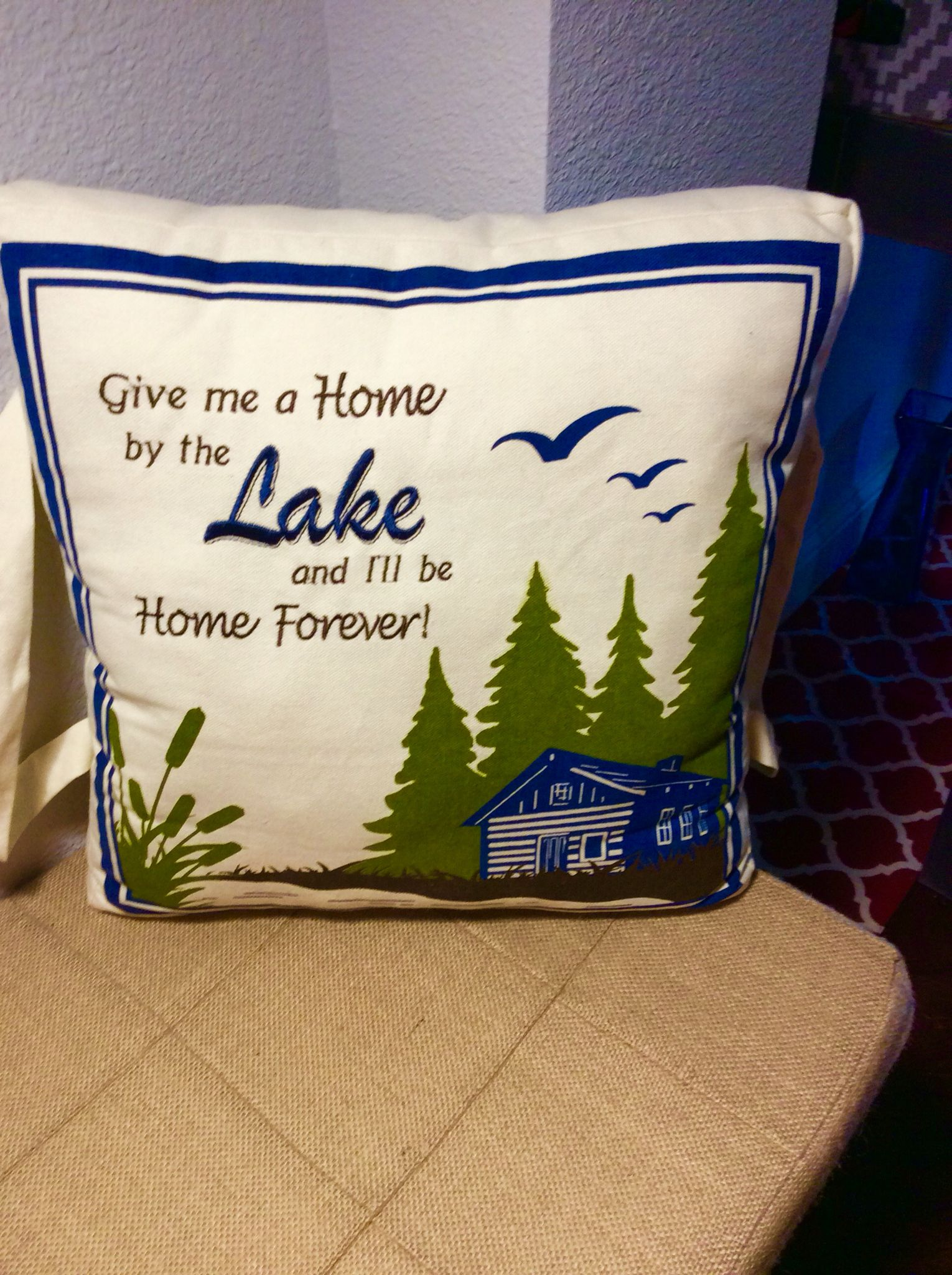 YAAASSS‼️ Not only does Cracker Barrel have great food, but also great pillows‼️Entryway find👌🏻 #LandinLivin💕💙💙