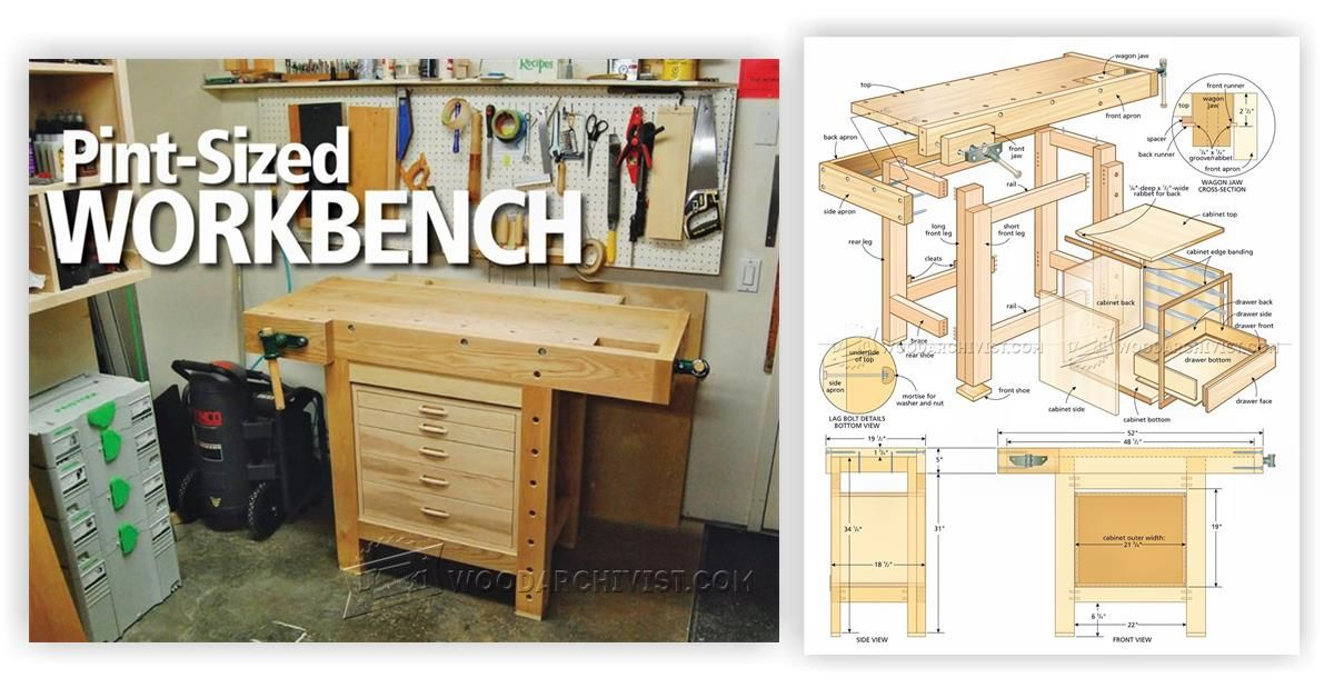 Compact Workbench Plans Workshop Solutions Plans Tips And Tricks