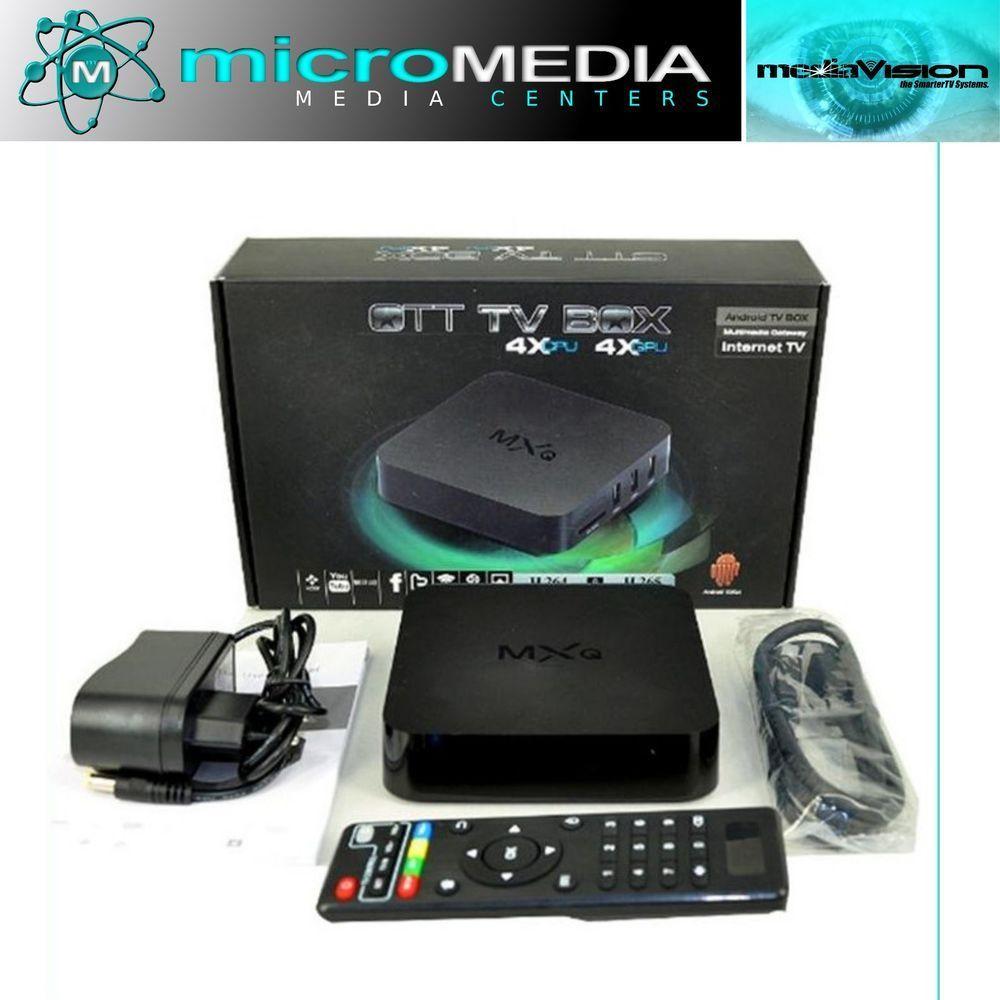Bluetooth Wifi Quad Core Mxq Android Tv Box 1g Ram 8g Rom 3d Full