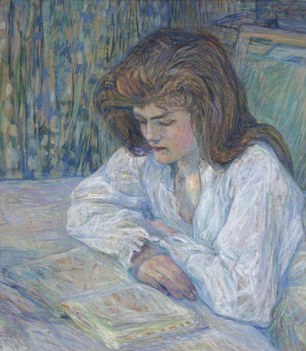 Henri de Toulouse-Lautrec (French, 1864-1901), La liseuse