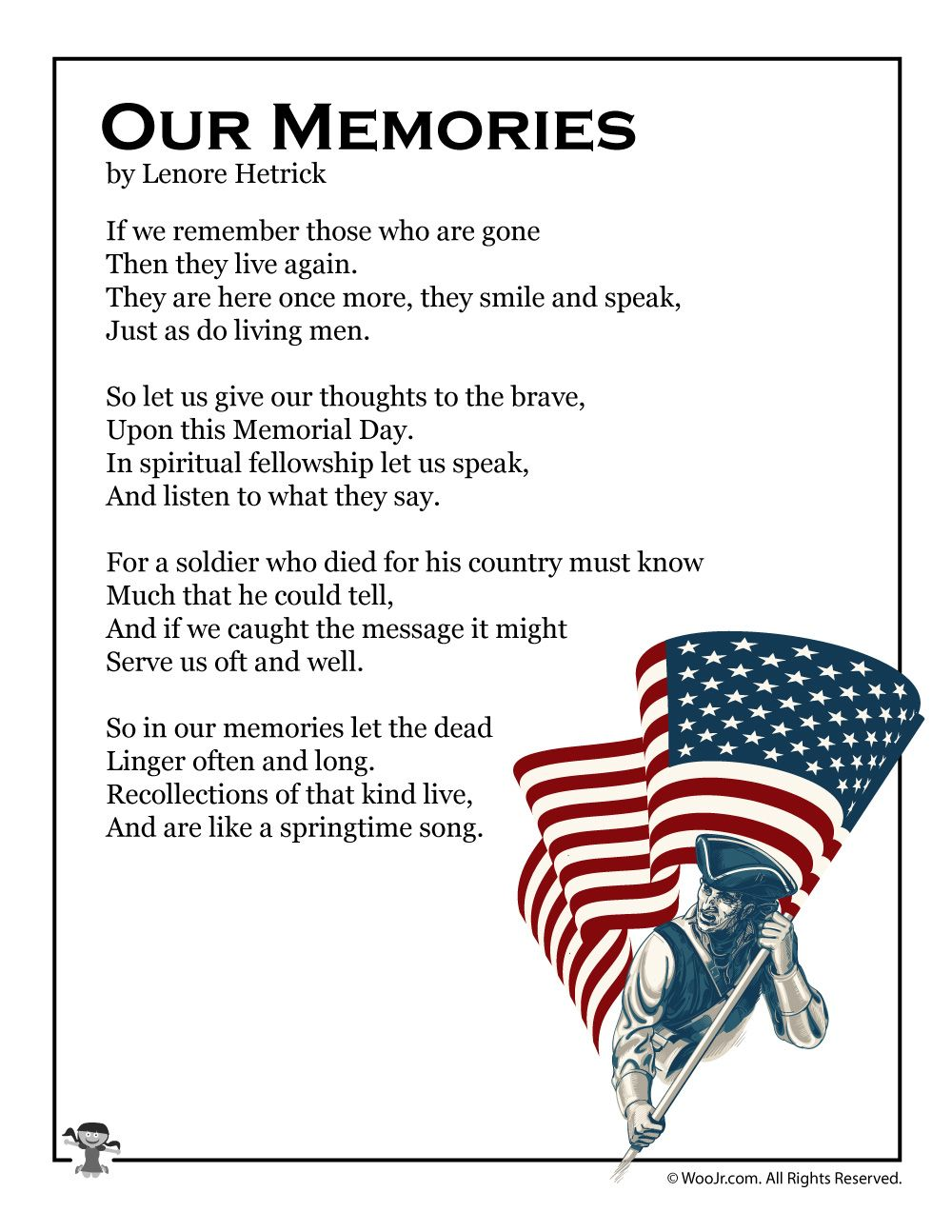 Our Memories Poem For Memorial Day In 2019 Outside Memorial Day