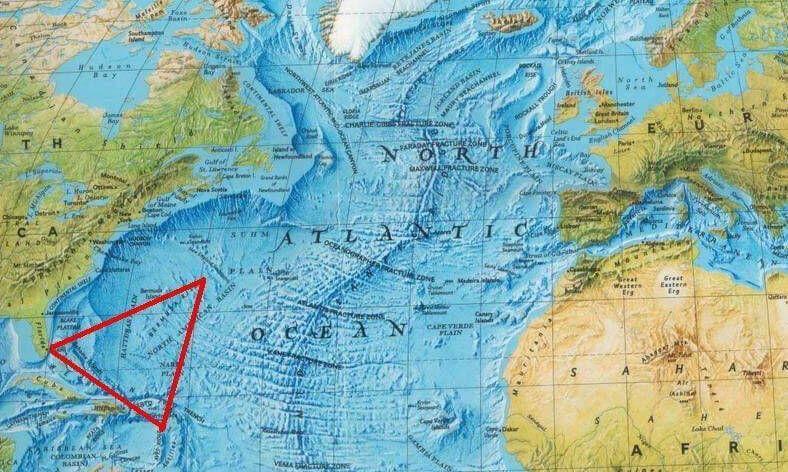 Bermuda Seytan Ucgeni Harita Bermuda Ucgeni Seytani Harita