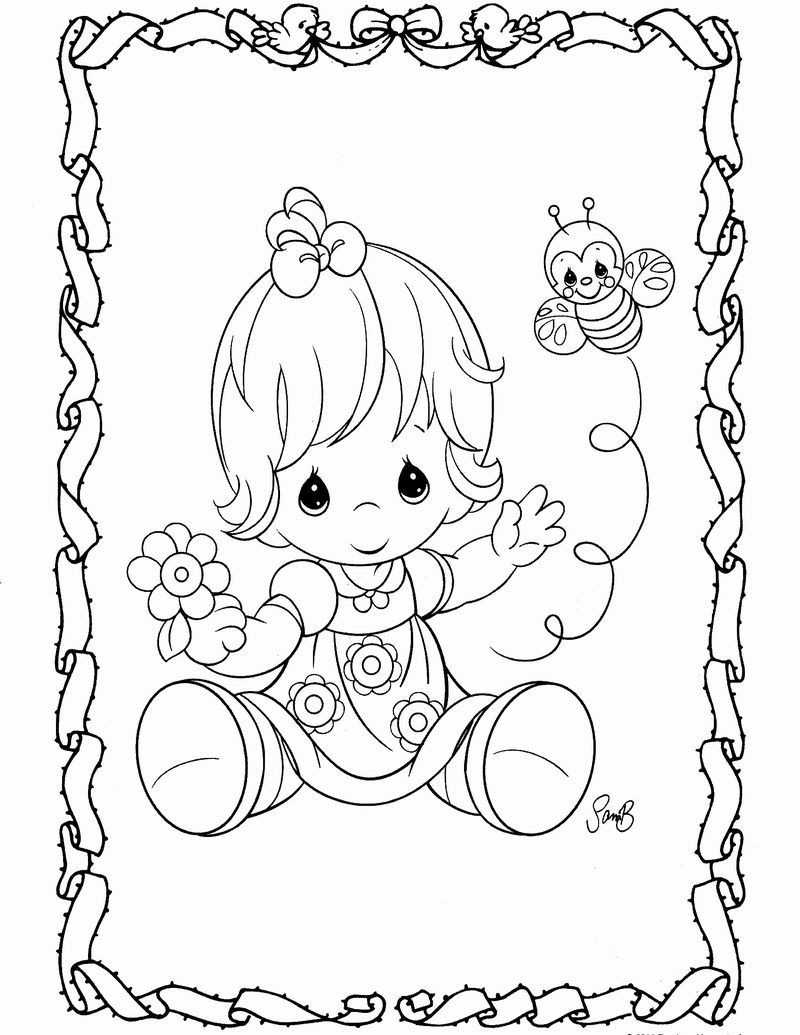 Precious Moments Coloring Pages Precious Moments Coloring Pages Angel Coloring Pages Baby Coloring Pages