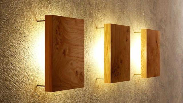 افكار ديكور لبمات اضاءة جدارية داخلية الإبتكار نواة التميز Wooden Lamps Design Modern Wall Lamp Lamp Design