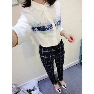 Buy TOJI Long-Sleeve Printed Shirt at YesStyle.com! Quality products at remarkable prices. FREE WORLDWIDE SHIPPING on orders over US$35.