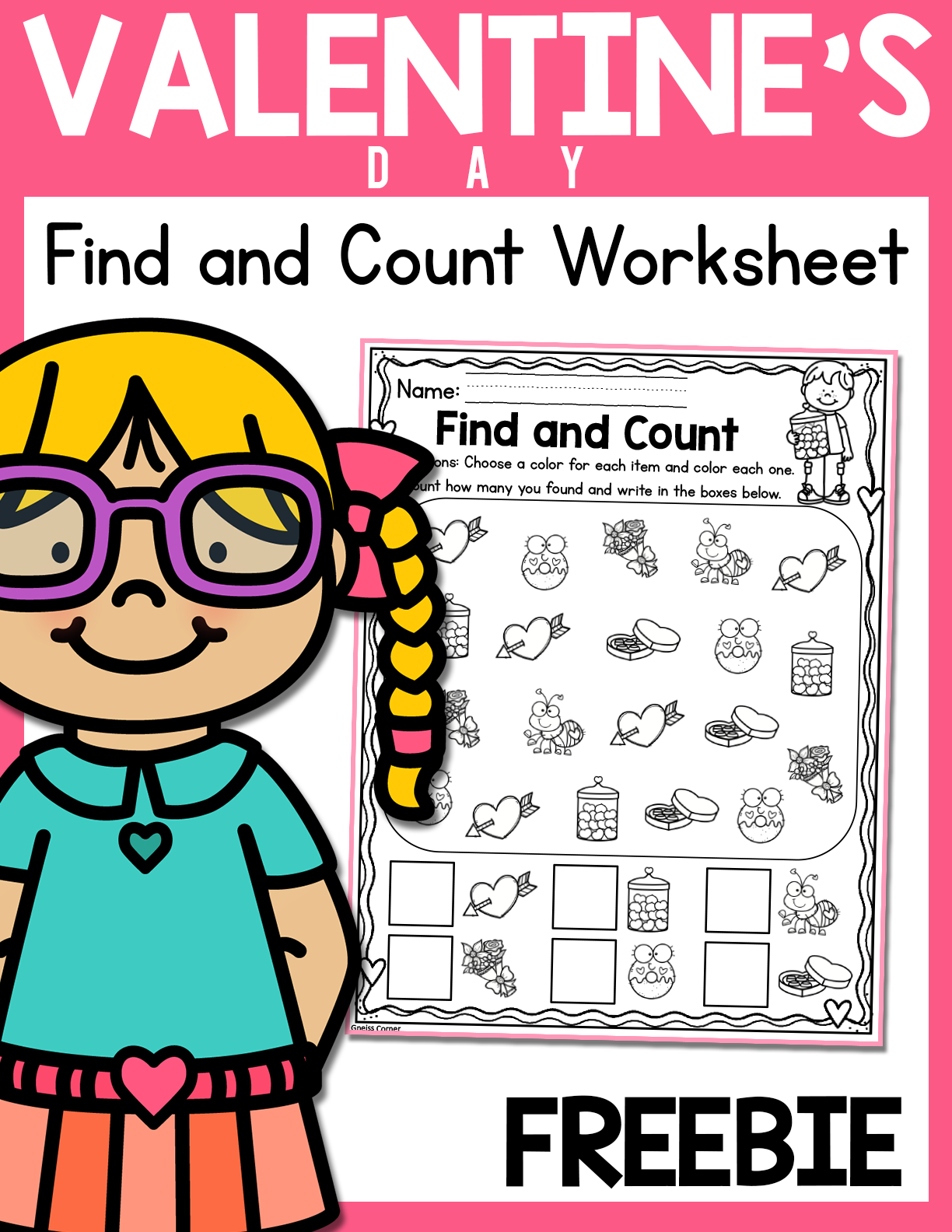 Freebie February Find And Count Worksheet In