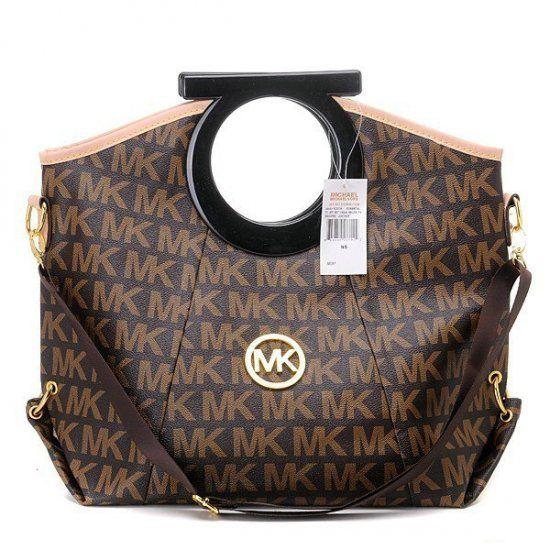 2012 Michael Kors Classic Tote Large Monogrammed Brown Handbags Michael Kors Cheap Michael Kors Michael Kors