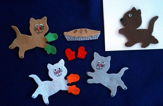 3 Little Kittens Flannel Board Felt Story Set And By Feltresources 5 75 Felt Stories Flannel Board Stories Flannel Boards