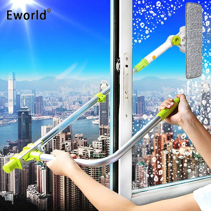 Glass Window Cleaning Tool Retractable Pole Clean Windowdevice