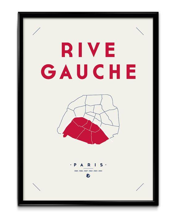 Rive Gauche Rive Droite Paris : gauche, droite, paris, Gauche-Paris, Sérigraphie, Serigraphie,, Droite,, Idées, Tableau