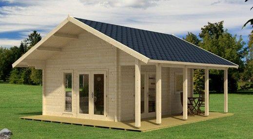 Allwood Bella Kit Cabin Tiny House Kits Backyard Guest 400 x 300