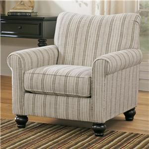 Milari Transitional Stripe Accent Chair by Signature Design by Ashley at Pilgrim Furniture City