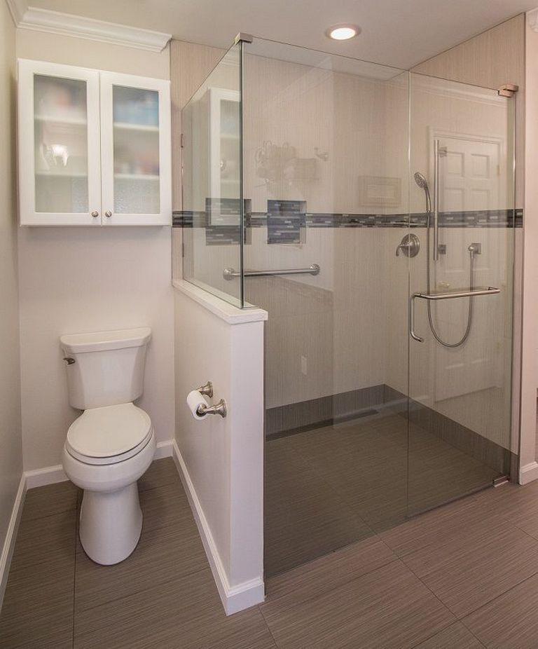 ✔88 Small Toilet Refurbishment Design Ideas That Are Comfortable To Use 39