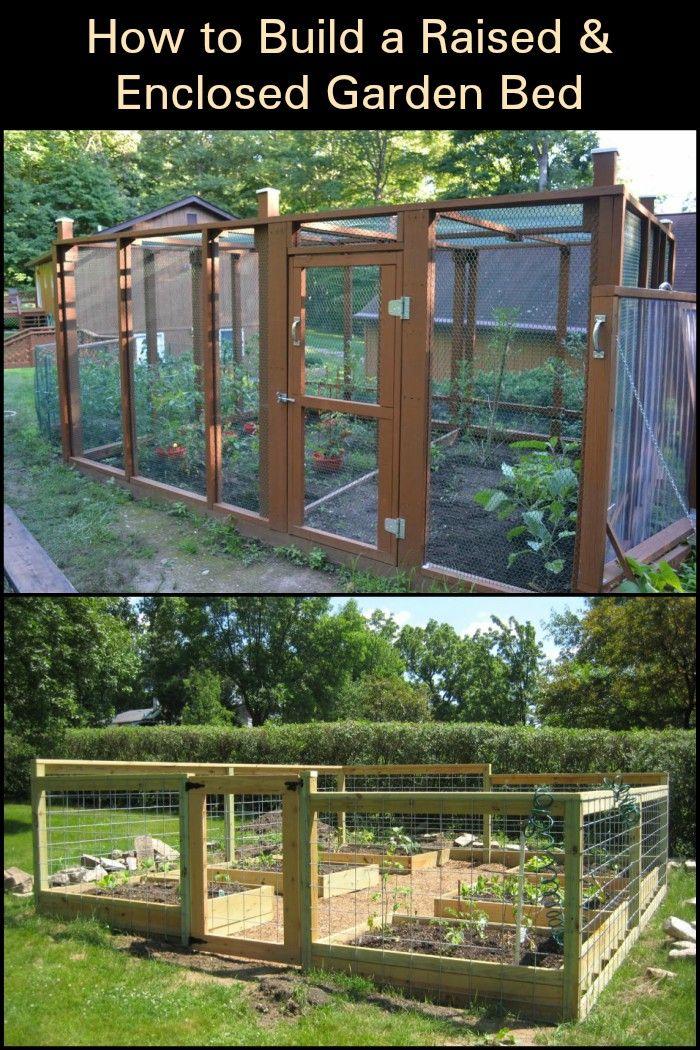 Build a raised & enclosed garden bed -   22 enclosed garden beds ideas