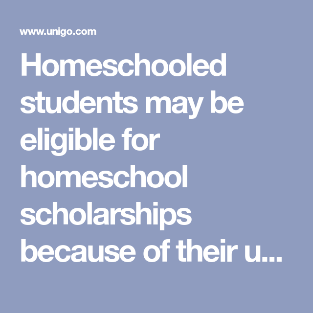 Homeschooled Students May Be Eligible For Homeschool