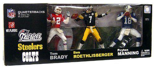 749acf4c McFarlane Toys NFL Sports Picks Exclusive Elite Club Quarterbacks Action  Figure 3Pack Tom Brady Ben Roethlisberger and Peyton Manning ** Continue to  the ...