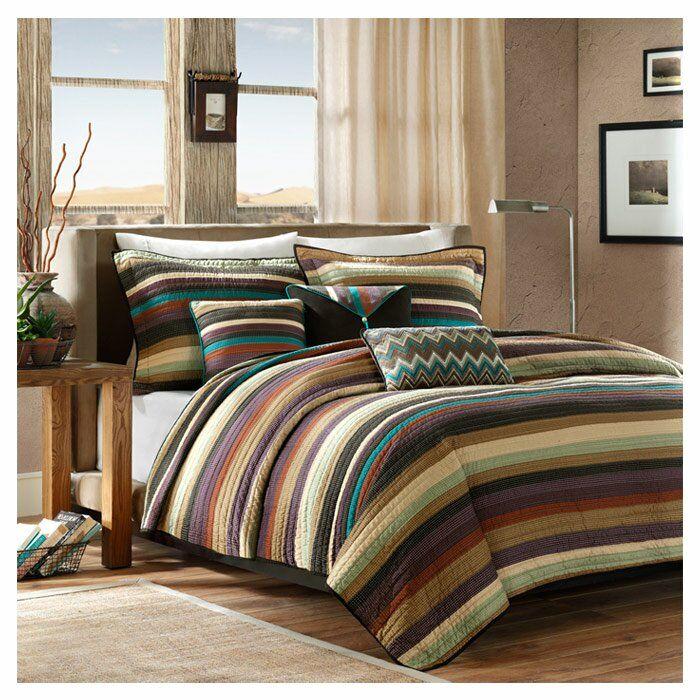 Mooresville Coverlet Set Striped quilt, Quilt sets, Bed