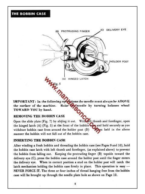 Morse 4300 Zig Zag Sewing Machine Instruction Manual Fotomatic III - instruction manual
