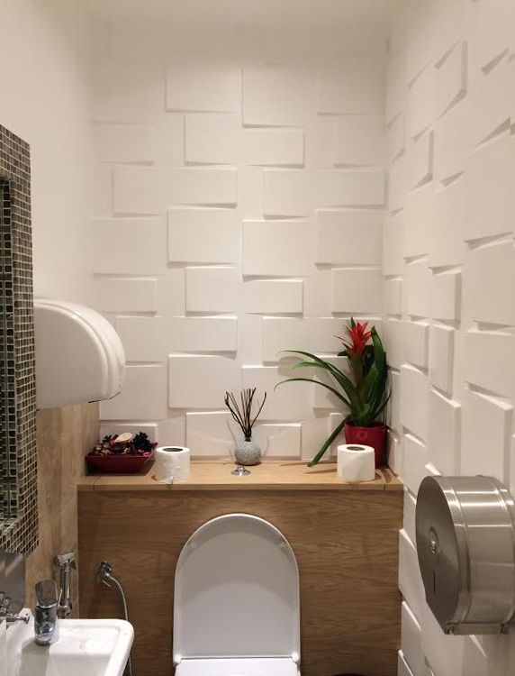 Rubik Panels In Beirut Nights Public Bathrooms East Meets West - Public bathroom wall panels