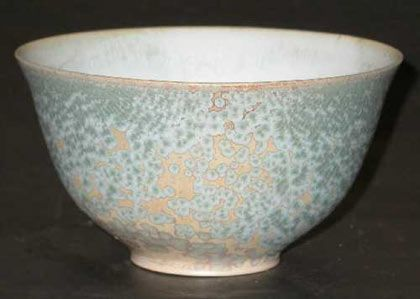 Ceramics by Bernd Milan Stuber at Studiopottery.co.uk - Stoneware Tea Bowl - Crystal Glaze.