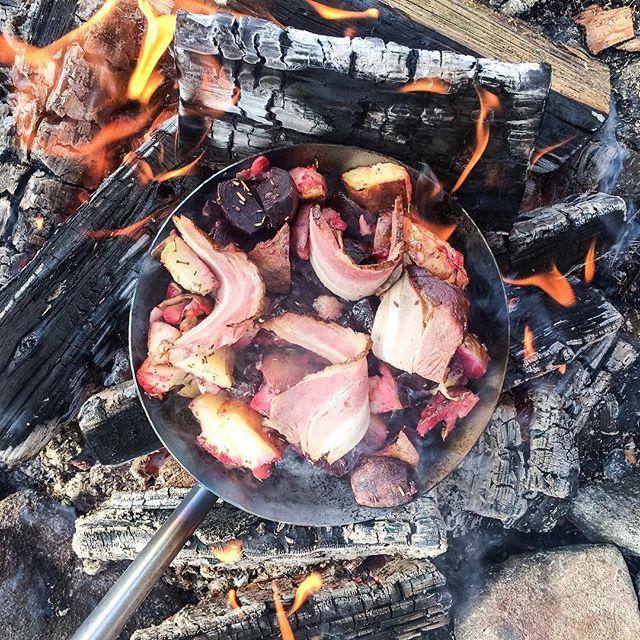 mat över öppen eld recept