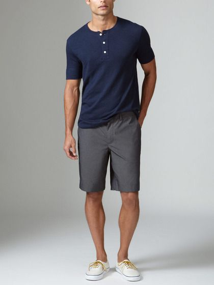 solid trouser shorts   Rococo: MENS STYLE   Boat shoes ...