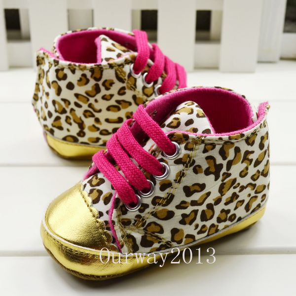 Soft Sole Baby Girls Toddler Walking Sneaker Leopard Crib Shoes Age 3-18 Month | eBay