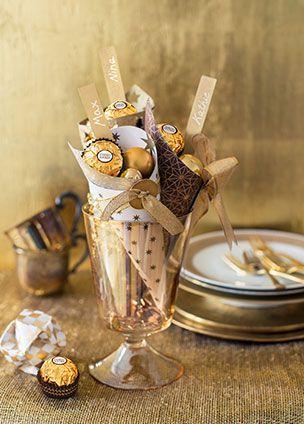 Weihnachtsdeko Ferrero.Dekorieren Und Schenken Mit Den Pralinen Von Ferrero Tischdeko