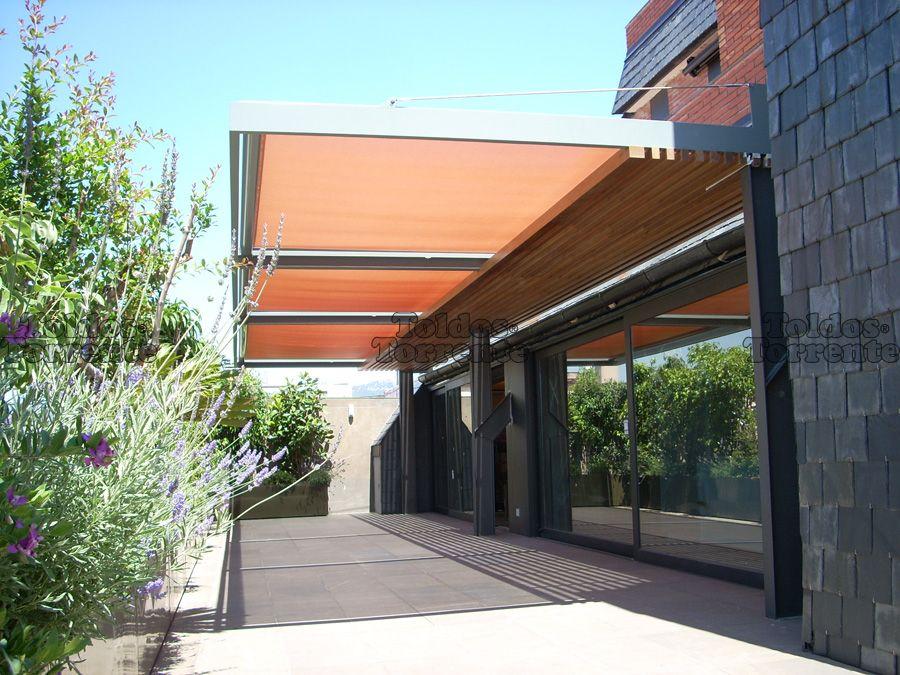 Toldo con alambre tensor superior planos de casas - Marquesinas para terrazas ...