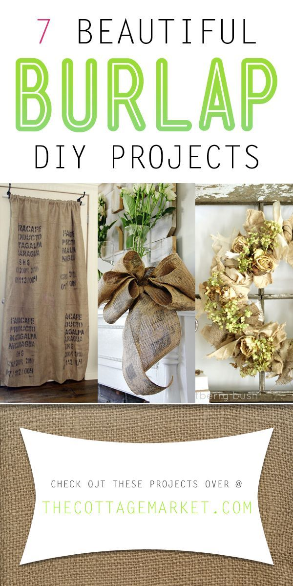7 Beautiful Burlap Diy Projects Crafts Pinterest Diy Projects