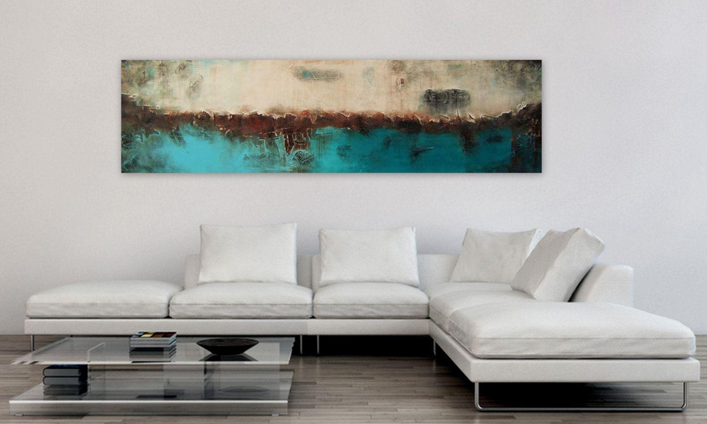 Große Original handgefertigte abstrakte Landschaft malen auf ...