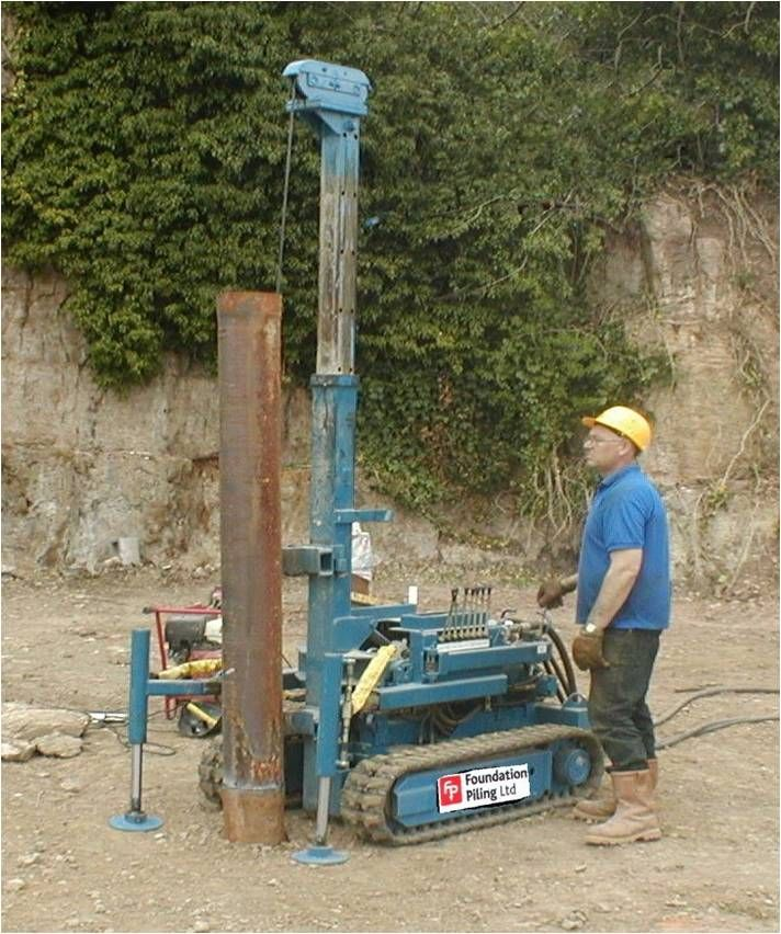 Mini pile foundations pinterest walls for Foundation pilings
