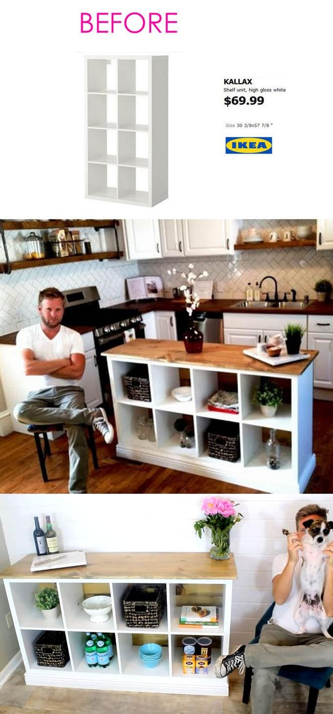 20+ Smart and Gorgeous Ikea Hacks ( & Great Tutorials ) #kitchenislanddecor