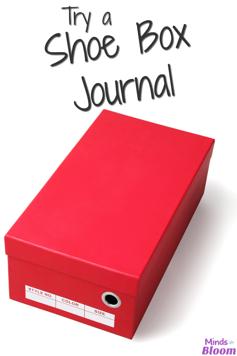 Have you ever thought about using a shoe box as a journal? I bet not! Read this tutorial for how to use a shoe box as a journal--let students get creative and put real items in there, instead of just writing in a journal!