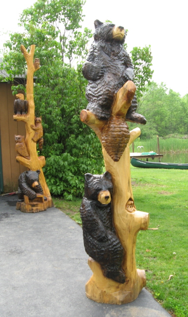 Carved bears chain saw carvings pinterest