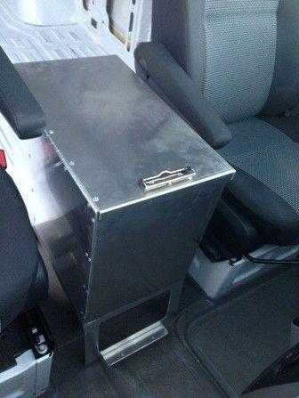 Aluminum Desk Top Center Console Box- Cargo Vans   4x4 tech! Ideas