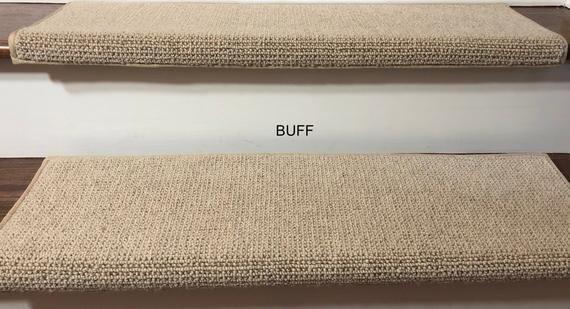 Best Padded Carpet Stair Treads Nantucket Buff Carpet 640 x 480