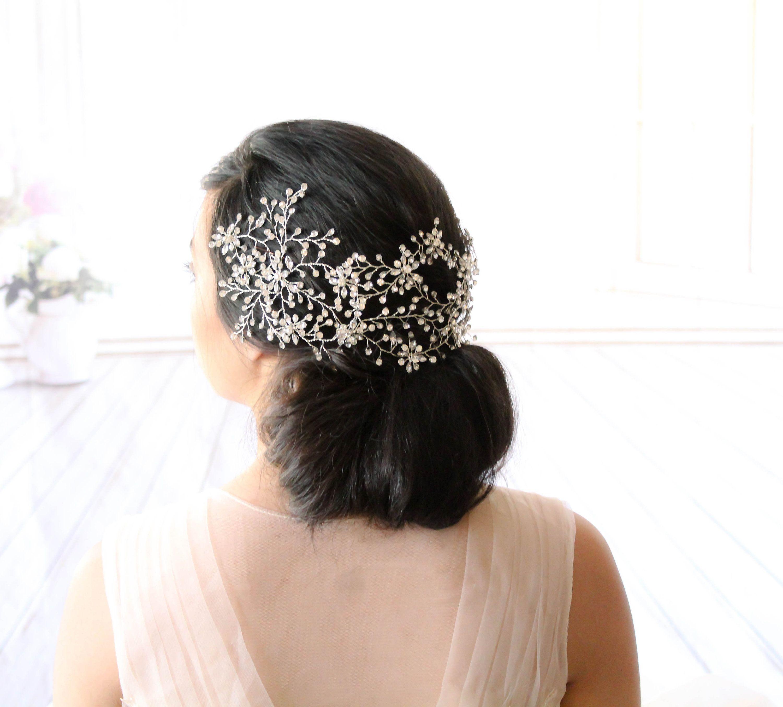 Crystal Bridal Hair Vine Headpiece Rhinestone Hair Accessory Swarovski Wedding Head Piece Bridal Wedding Hair Head Piece Bridal Hair Vine Swarovski Hair Piece
