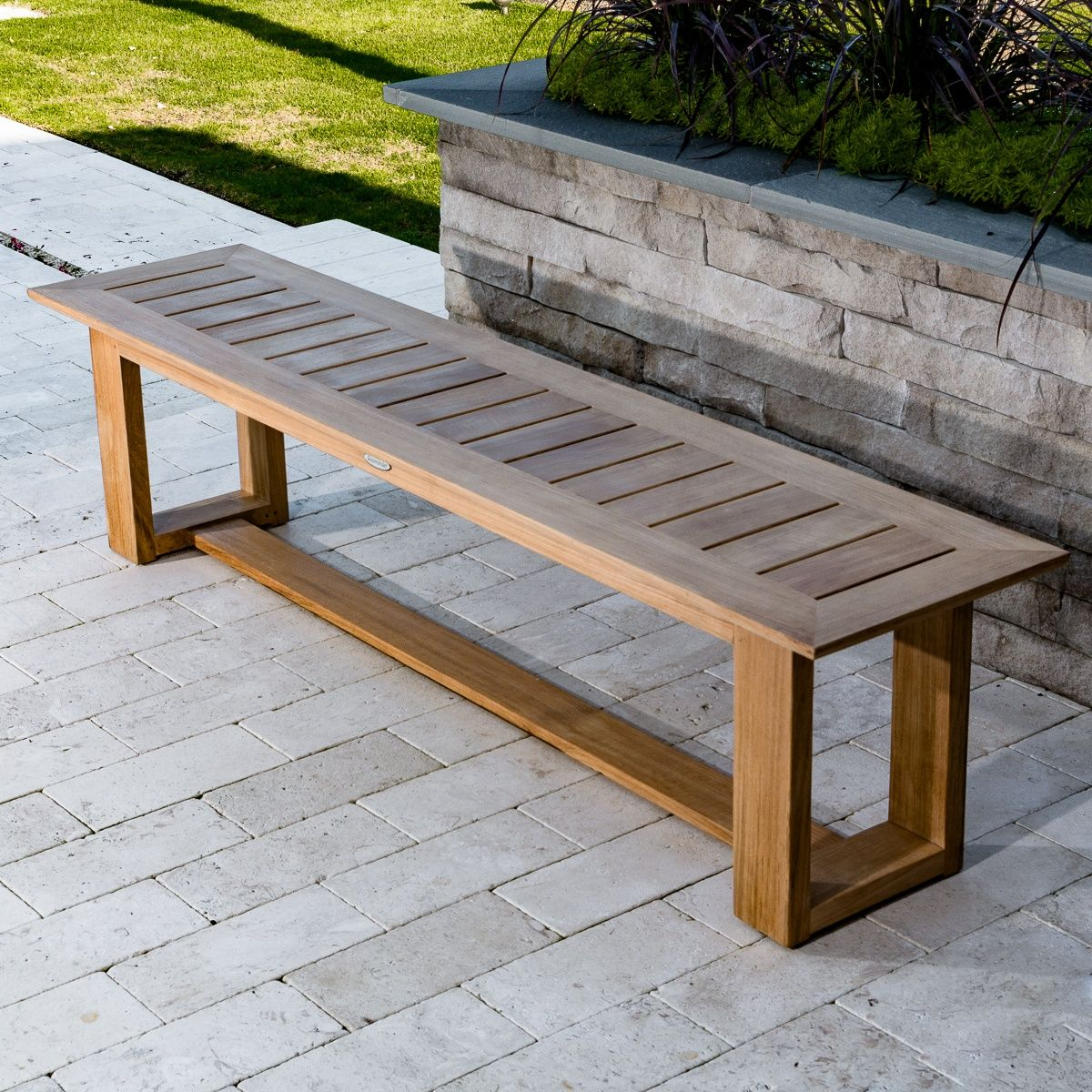 Awesome 6 Ft Horizon Teak Backless Bench In 2019 Benches Teak Machost Co Dining Chair Design Ideas Machostcouk