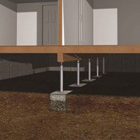 Crawl Space Supports Crawl Space Jacks Fix Sagging Floors Issues Home Remodeling Mobile Homes Home Repairs